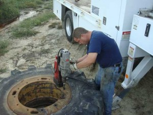 large tire rim repair