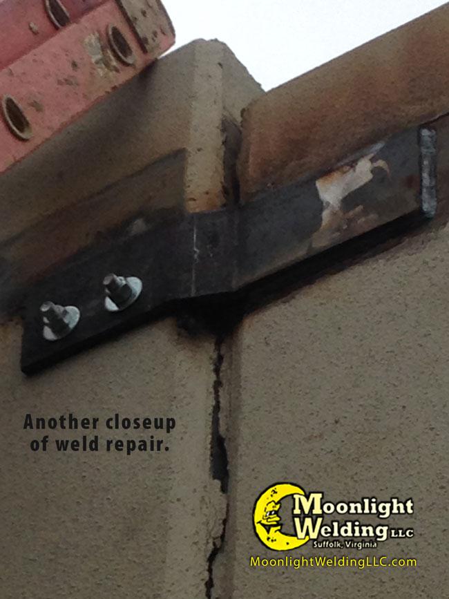 concrete wall repair closeup 2