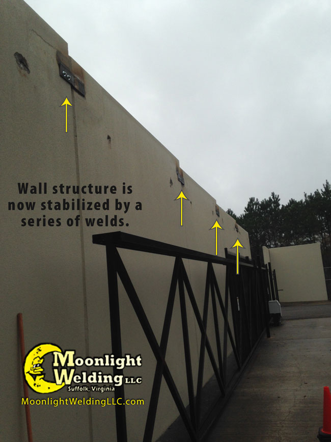 concrete wall repair after