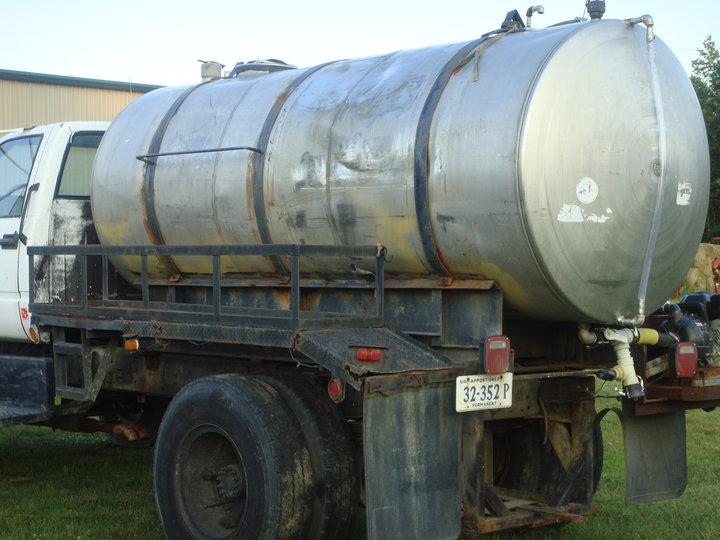 crushed tanker like new